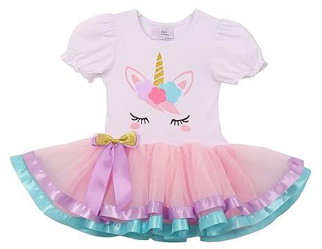 ed43c2244 Little Girls Cute Unicorn Birthday Girl Tutu Special Girls Tutu Dresses  Pink S (TUC19C06)