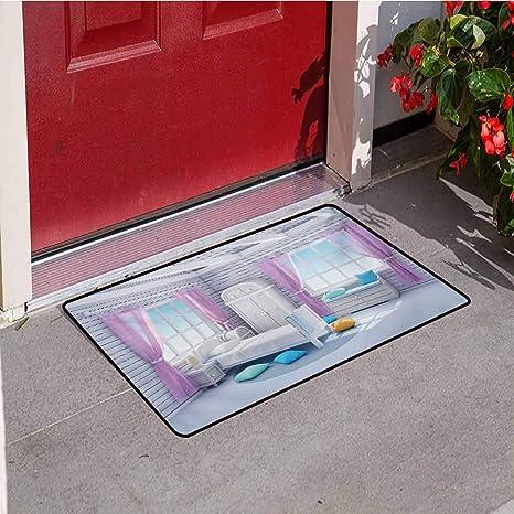188e180560 Amazon.com : Jinguizi Fantasy Front Door mat Carpet Dreamy Bedroom ...