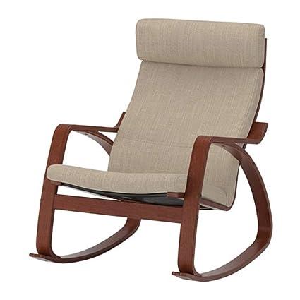 Sensational Amazon Com Ikea Poang Rocking Chair Medium Brown Hillared Spiritservingveterans Wood Chair Design Ideas Spiritservingveteransorg