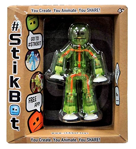Stikbot, Green and Orange Stikbot Figure, 3 Inches