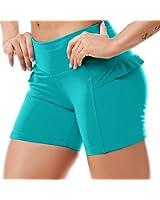 Sexy Yoga Shorts , Cute Workout Shorts, Fashion Gym Shorts Ref 5202 Teal (Medium)