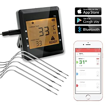 Kochen Und Backen App grillthermometer lnkey digital wireless kitchen thermometer bbq