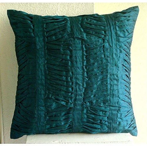 Luxury Royal Peacock Green Pillow Cases, Modern Throw Pillows Cover, 12