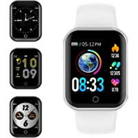 Smartwatch, KUNGIX Reloj Inteligente Impermeable IP68 Pulsera de Actividad Inteligente con Monitor de Sueño Pulsómetros Podómetro Contador de Caloría, para Hombre Mujer niños