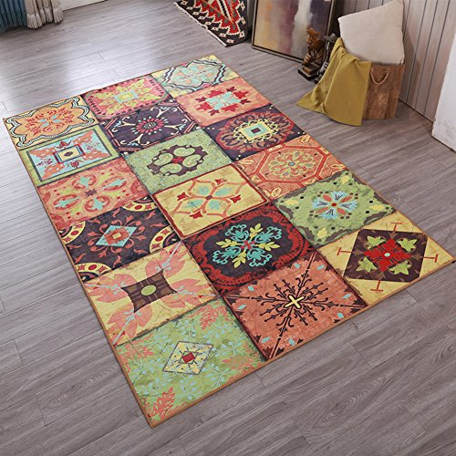 Retro Home Rugs National Flavor - MeMoreCool Eleven Patterns No Fading Anti-slipping Beautiful Patterns Living Room Tea Table Carpets 31 X 47 (Tea Bag Tiles)