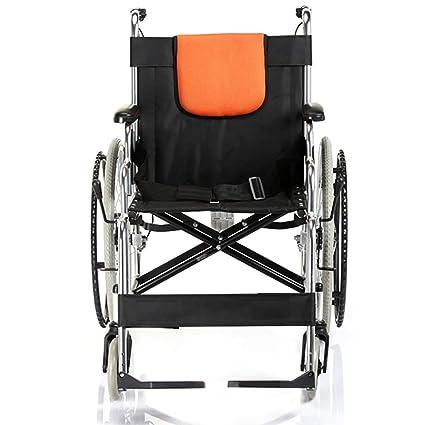 YUFI Silla de ruedas, aleación de aluminio vieja silla de ruedas que dobla la silla