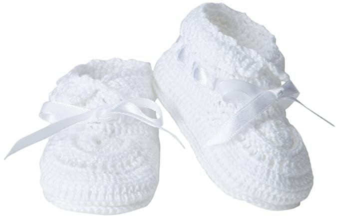 463d28fc3 Amazon.com: Jefferies Socks Baby-Girls Infant Hand Crochet Bootie,  White/White, Newborn: Infant And Toddler Socks: Clothing