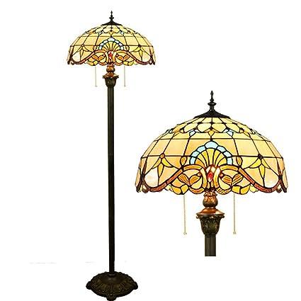 OOFAY Lámpara de pie Tiffany lámpara barroca para Sala de ...