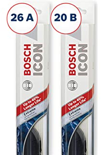 Bosch ICON Wiper Blades (Set of 2) Fits 2018-08 Toyota Highlander;