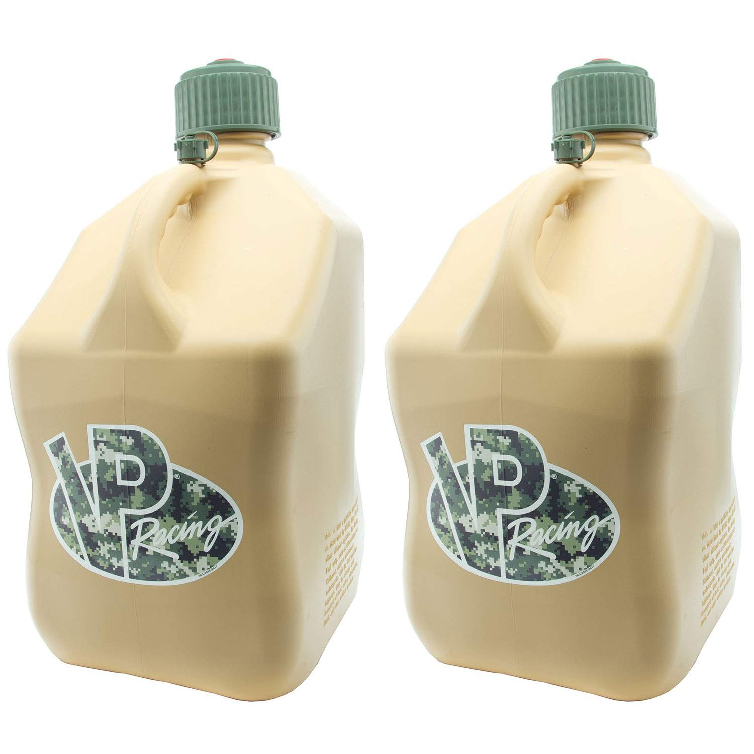 VP Racing 5 Gallon Motorsport Racing Fuel Container Jug Gas Can, Tan (2 Pack) by VP Fuels