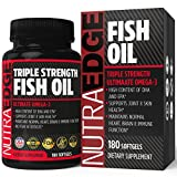 High Pressure Tanning Beds TRIPLE STRENGTH Fish Oil 180 Softgels - Ultimate Omega-3, 3000mg Fish Oil, High Content of DHA & EPA, No Fishy Aftertaste, Supports Joint & Skin Health, Maintains Normal Heart, Brain & Immune Function