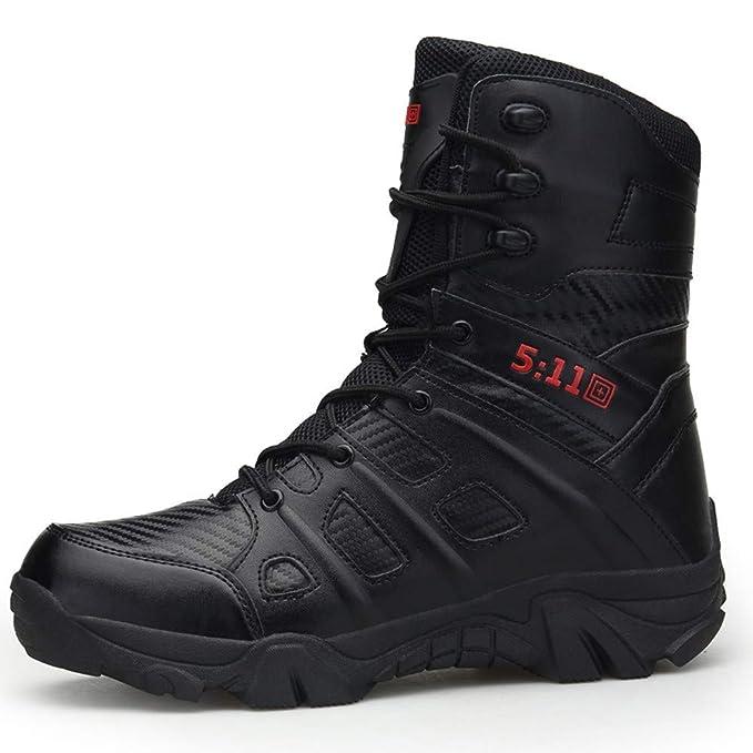 Zapatillas de Hombre de BaZhaHei, Botas Militares y cómodas Botas Zapatos de Hombre Antideslizantes Resistentes