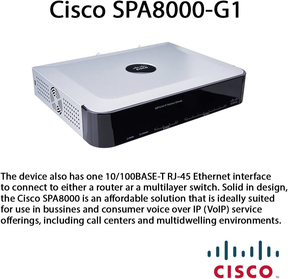 SPA8000-G1 Cisco Telephony Gateway 8-Port