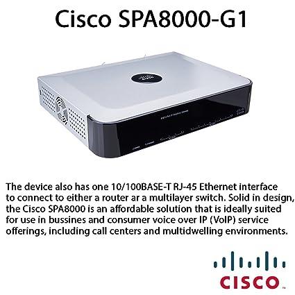 Amazon com: Cisco SPA8000 8-Port Telephony Gateway - 8 x 1 x