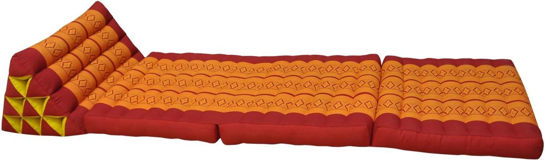 piscina rojo//naranja playa Colch/ón tailand/és 3/pliegues con tri/ángulo coj/ín 81003 jard/ín