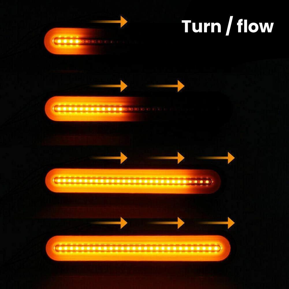 ABS Material WE-WIN feux arri/ère 2 Pack Rear Brake Lights Tail Light Lamp 12-24V Waterproof Trailer Indicator LampTruck