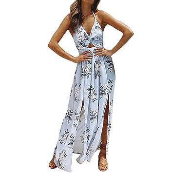 0856d991ca38 Langes kleidsommerkleider damen 🔥LMMVP🔥 Frauen elegantes kleid Party Kleid  Chiffon Blumenkleid Etuikleid Strandkleid kleider