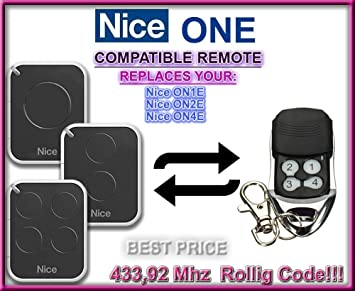 ON2 ON4 Compatible remote control Rolling code 433.92MHz. NICE ON1