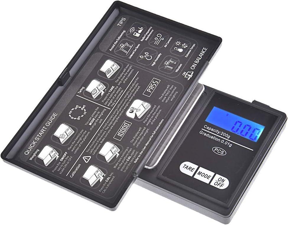 risoluzione precisa di 200gr Bilancia digitale di precisione//pesalettere//bilancina dellorafo//bilancia tascabile 0,01gr Quantum Abacus Precise CS-200g0.01