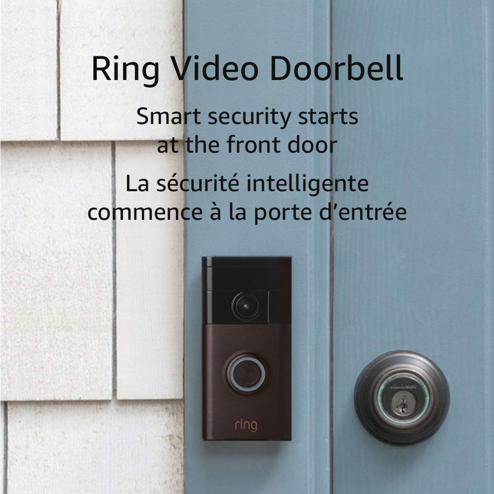 Ring Wi-Fi Enabled Video Doorbell in Venetian Bronze New