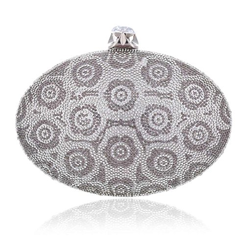 Retro Damara Rhinestone Bag Liked Matal Totem Evening Womens Silver 5rIw0xRqr