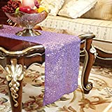 B-COOL 12x72inch Lavender Sequins Table Runner