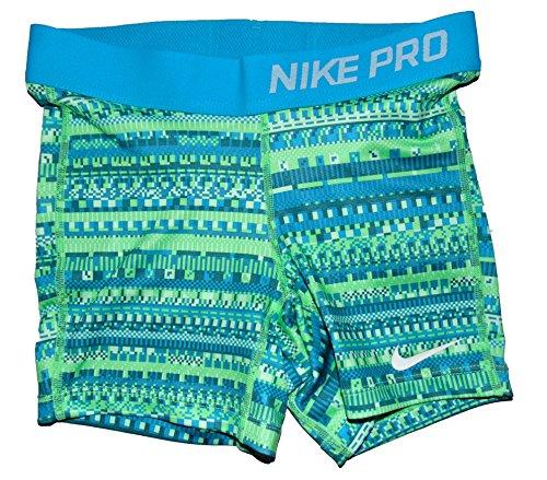 Nike Girl's Dri Fit 3 Inch Compression Graphic Shorts Small Green