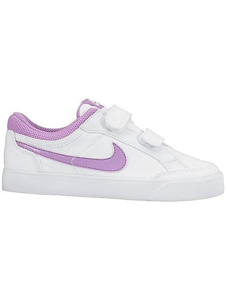 Nike Capri 3 LTR (PSV), Zapatillas de Tenis para Niñas, Blanco/Morado (White/Fuchsia Glow), 29 1/2 EU: Amazon.es: Zapatos y complementos