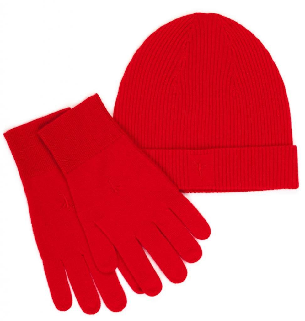 Citizen Cashmere Men's 100% Cashmere Beanie & Gloves One Size Camel