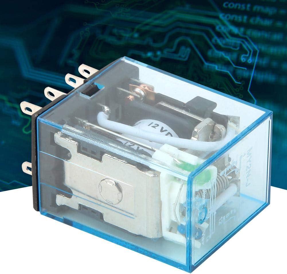 8-poliges elektromagnetisches DPDT-Zwischenrelais mit Spule MY2N-J 10A 12V//24V//220V 12VDC 10 St/ück