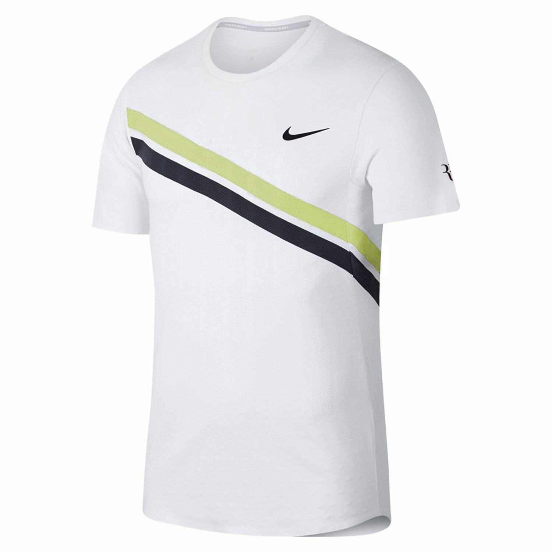 Nike Boys NKCT Legend RF tee - Camiseta, Niño, (White/Bright Citron) Niño