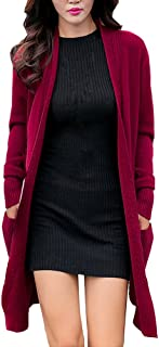 Amazon.com: Black Women's Boutique New Winter Sweater Coat Long