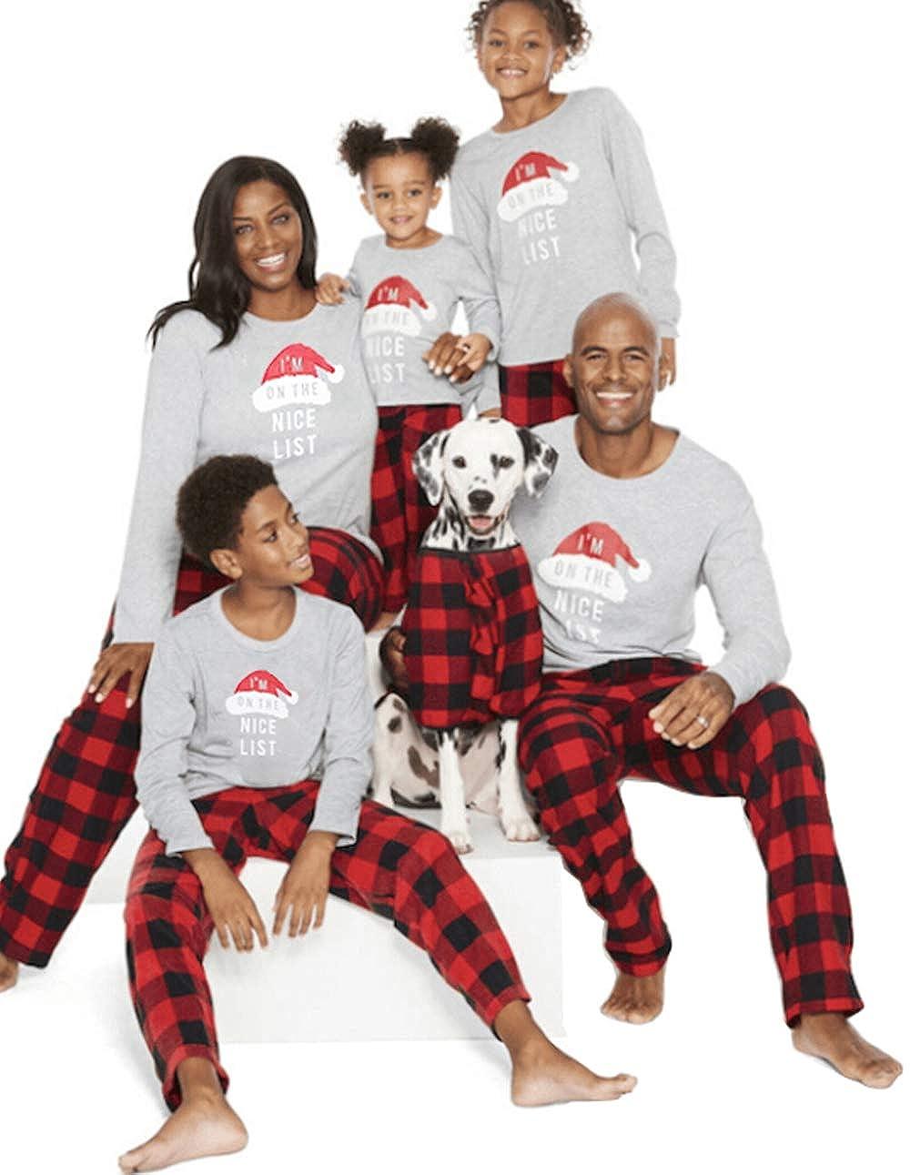 MAINESAKA Papa Mama Little Kids Christmas Family Matching Sleepwear Pajamas Set