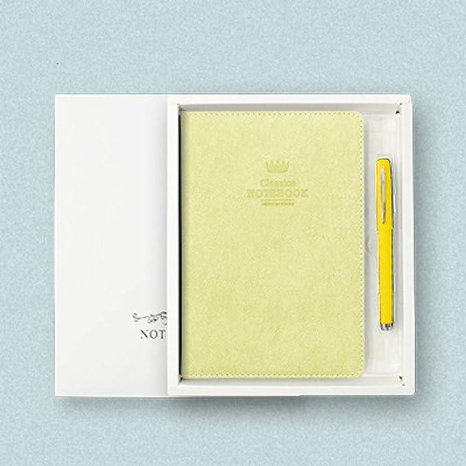Juego de regalo de diario de cuero + bolígrafo, cuaderno de ...