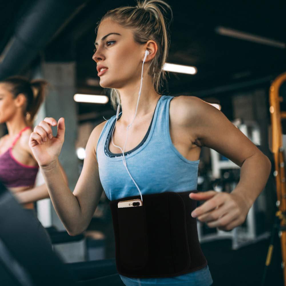 WOSTOO Mujer Cintura Entrenador Negro Ajustable Respirable Cintur/ón Reductor Abdominal Faja Moldeadora Grasa para Peso P/érdida Deporte Entrenamiento