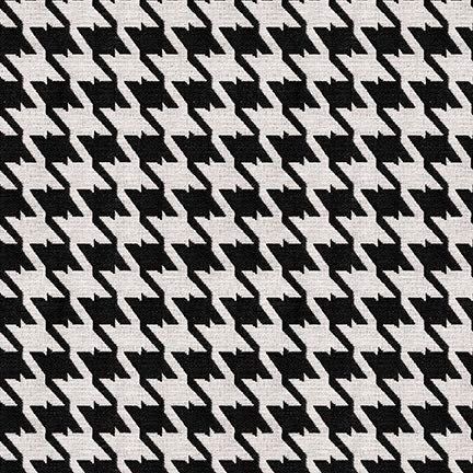 - Caviar Black Houndstooth Woven Jacquards Upholstery Fabric by the yard