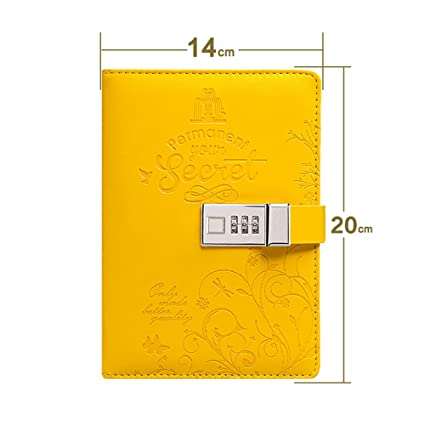 xiduobao Retro B6 cuaderno con cierre de passward diario de piel sintética cierre diario cuaderno secreto
