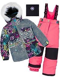 Deux par Deux Girls' 2-Piece Snowsuit Great Escape Pink, Sizes 4-14