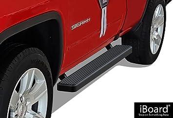 """For 1999-2018 Silverado//Sierra Regular Cab 4/"""" Black Side Step Bars Running Board"""