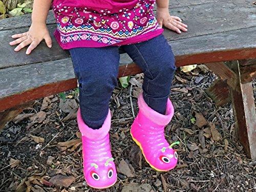 Beastie Shoes Children's Waterproof Rain Boots Cartoon Animals Toddler/Little Kid (26 (8 M US Toddler), Pink) by Beastie Shoes (Image #6)