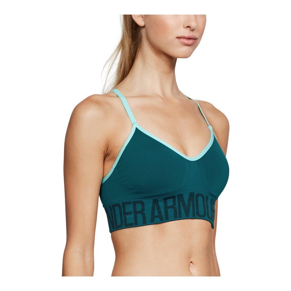 Under Armour Women's Seamless Bra, Tourmaline Teal /Tourmaline Teal, X-Small