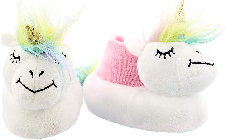 Yankee Toy Box Plush Animal Toddler Boys Girls Sock Top Slippers