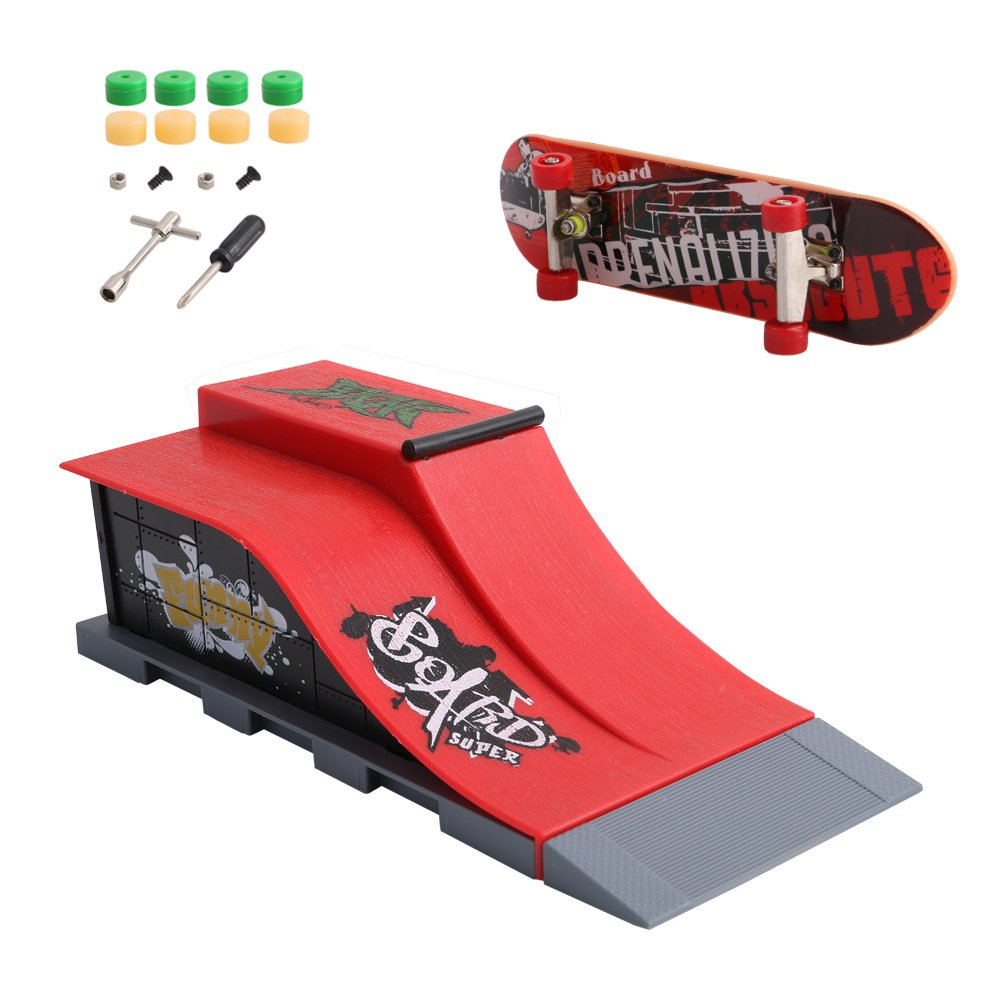 cici store Skate Park Ramp Parts for Tech Deck Fingerboard Sport Games Kids Novelty Toys Gift,#E
