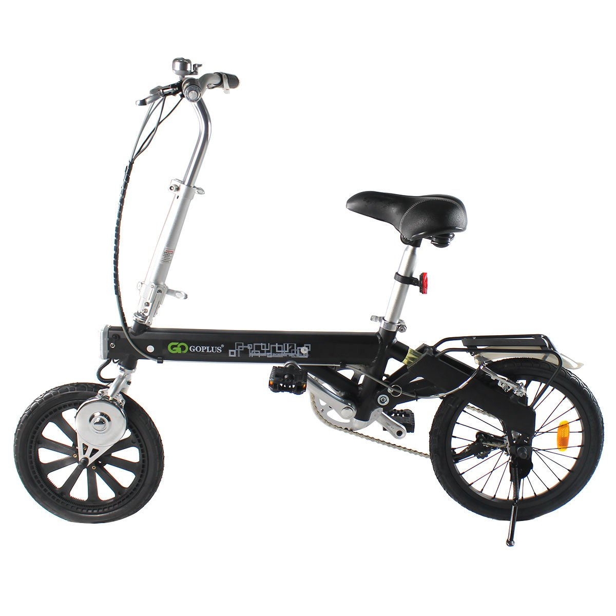 Black Bicycle Electric Folding Bike 180W Lithium Battery