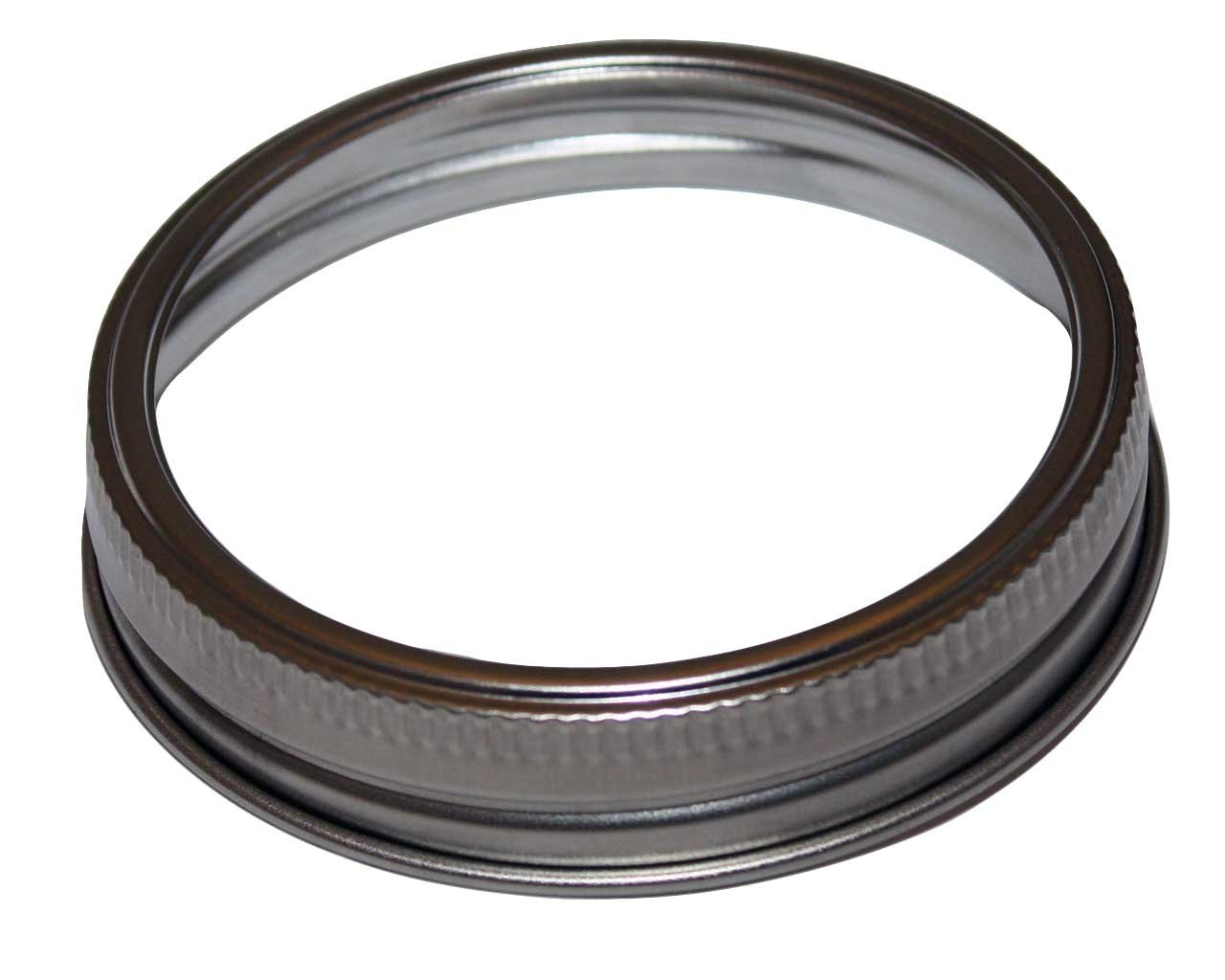 Stainless Steel Rust Proof Bands / Rings for Mason, Ball, Canning Jars (5 Pack, Wide Mouth)