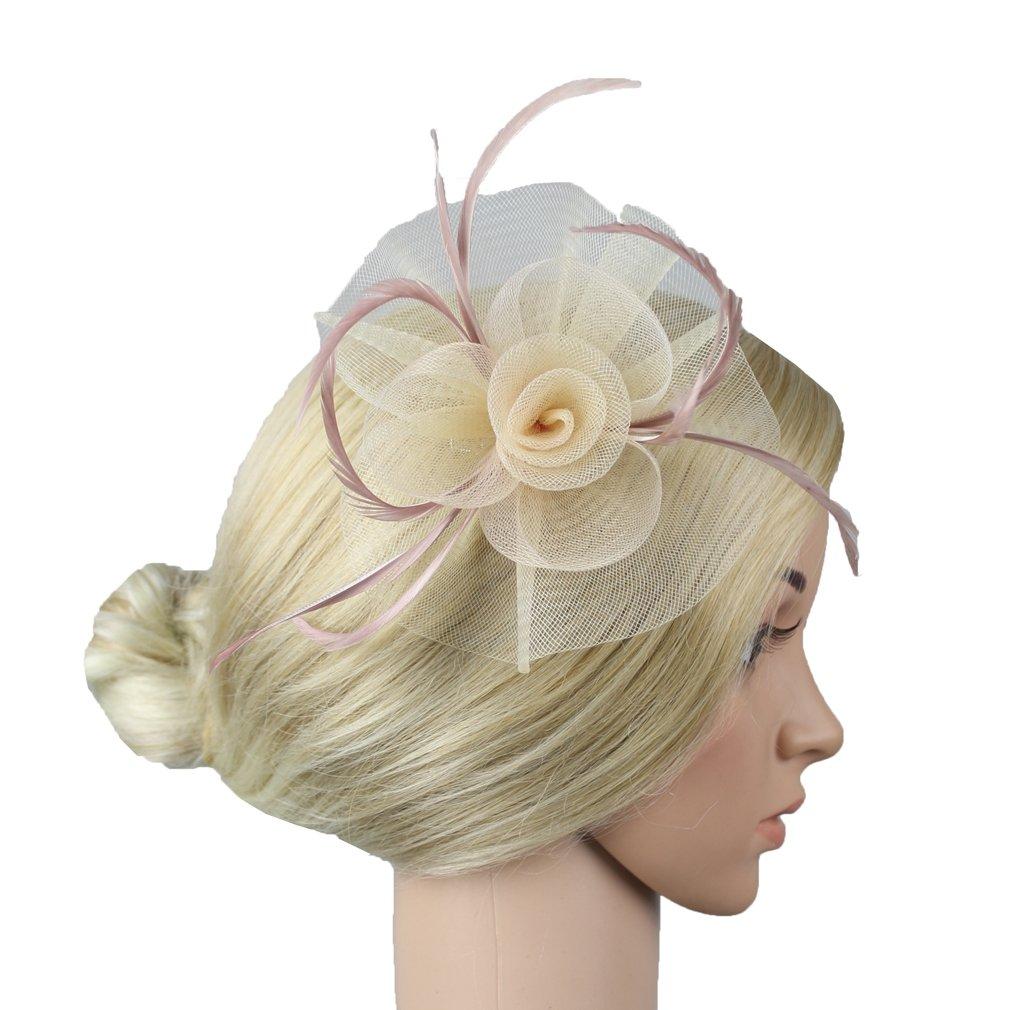 Jelinda Women Flower Headwear Wedding Party Hair Clip Fascinator Headpiece