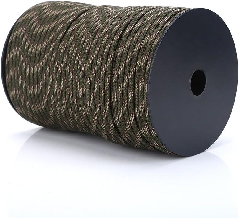 Alomejor Corde pour Tente 100M en polypropyl/ène Paracord Corde de Tente Durable /à 9 torons pour Cordes /à Linge Escalade cerclage