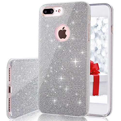 iPhone 7 Plus, VPR Bling Luxury Glitter Pretty Cute Premium 3 Layer Ultra Thin Sparkle Anti-Slick / Soft Slim TPU Unique/ Protective Case for iPhone 7 Plus (Shocking Pink Anime)