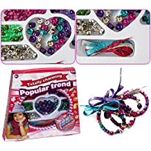 Jewelry Making Bead Set - Includes Assorted Color Beads & Beading Shoe Strings For Customized Necklaces & Bracelets...
