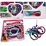 Jewelry Making Bead Set - Includes Assorted Color Beads & Beading Shoe Strings For Customized Necklaces & Bracelets - Gift Ready Packaging - By Dazzling Toys